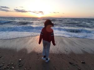 慶野松原キャンプ場の夕日が絶景です2
