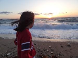慶野松原キャンプ場の夕日が絶景です3
