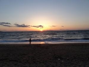 慶野松原キャンプ場の夕日が絶景です4