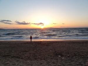 慶野松原キャンプ場の夕日が絶景です5