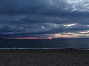 慶野松原キャンプ場の夕日