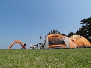 慶野松原キャンプ場フリーサイト2
