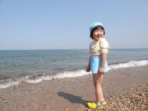 慶野松原キャンプ場GWでもちょっと海水浴に挑戦1