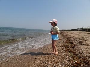 慶野松原キャンプ場GWでもちょっと海水浴に挑戦2