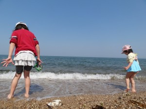 慶野松原キャンプ場GWでもちょっと海水浴に挑戦3