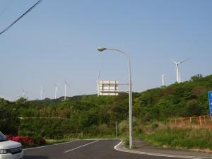 淡路島風力発電の風車を見る06