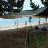 近江舞子中浜キャンプ場で観る花火大会ねらいで前のり…花火大会前日の夕方に到着