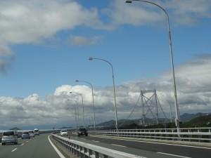 鳴門海峡大橋で徳島県鳴門市へ01
