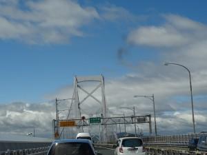 鳴門海峡大橋で徳島県鳴門市へ02