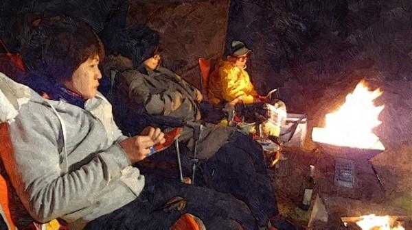 日の岬オートキャンプ場-焚火と星空と波音とワインでまったり