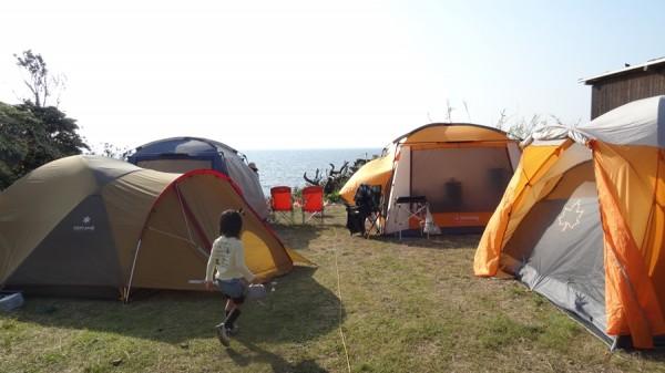 日の岬オートキャンプ場-2家族のファミリーキャンプ