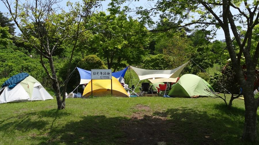大阪市内から車で1時間半・・・人気の無料キャンプ場に行った。【大野山アルプスランドキャンプ場】