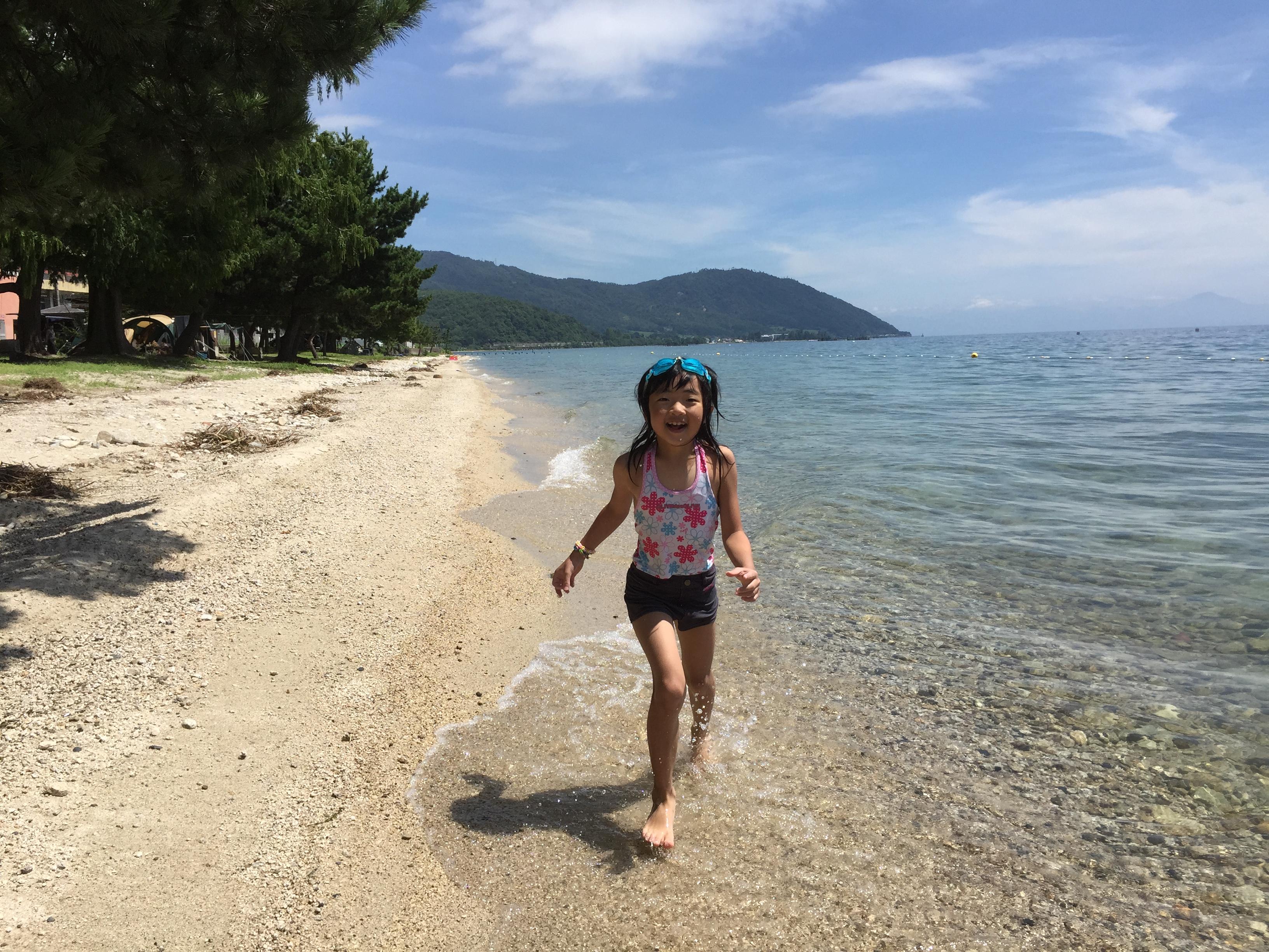 琵琶湖花火キャンプのいいとこ見つけた!北小松水泳場キャンプ場